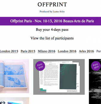 COMING UP: OFFPRINT PARIS